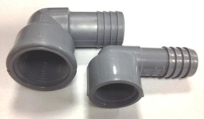 Elbow - FPT Thread x Barb 3/8 inch to 1 inch | Fittings/Adaptors